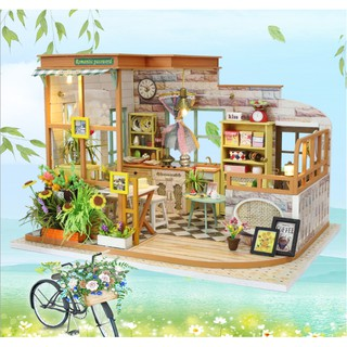 Nhà búp bê gỗ – mô hình quán cafe lãng mạn ngày hè với khung cảnh nhẹ nhàng, thanh nhã