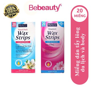 Miếng Dán Tẩy Lông Beauty Formulas Wax Strips