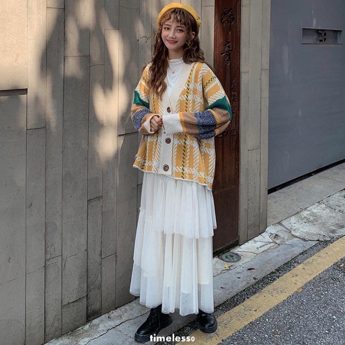 set áo khoác cardigan và chân váy dài thời trang thanh lịch dành cho nữ
