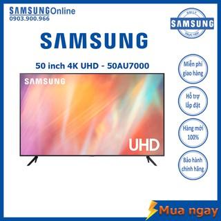Smart TV Samsung UHD 4K 50 inch UA50AU7000 Mới 2021 – Bảo hành 2 năm chính hãng