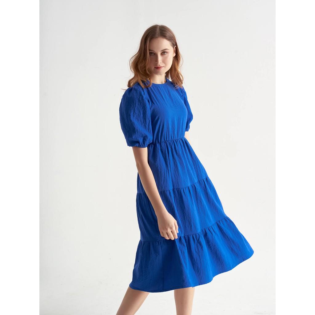 Đầm Xanh Sapphire Váy Tầng - YV LE & CO