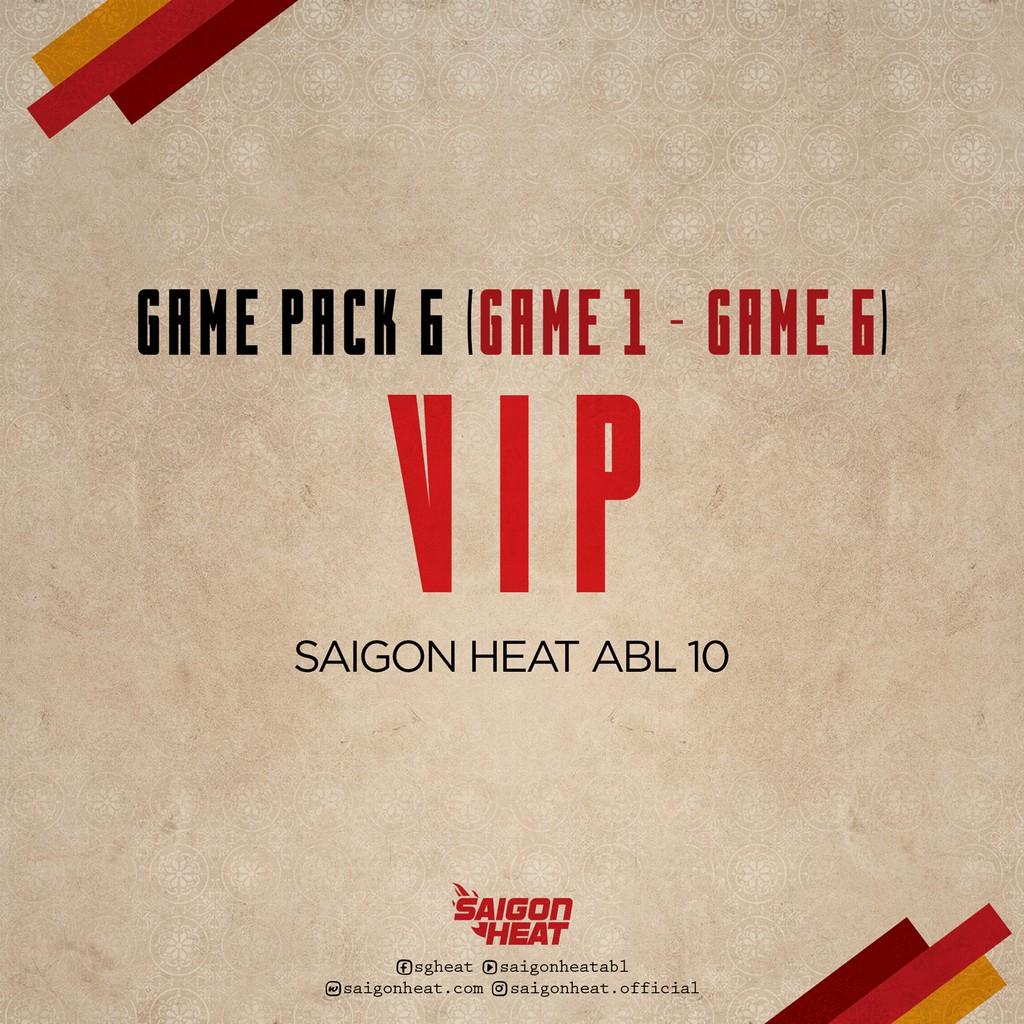 E-Voucher-Vé tham dự giải bóng rổ ABL loại GAME PACK 6 - Hạng Vip - Trận đấu 1 - 6 - Hồ Chí Minh