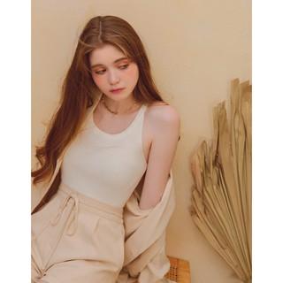 Áo dệt kim cổ U tối giản nữ Air Space 2111821009 thumbnail