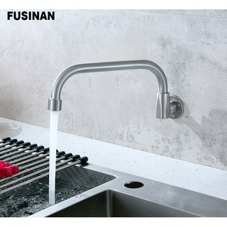 Vòi nước rửa chén bát NGẮT MỞ NƯỚC TỰ ĐỘNG gắn tường inox 304 KDT6 thumbnail