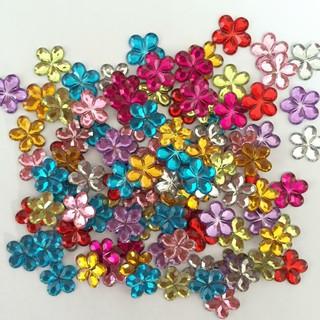 Bộ 10 bông hoa nhựa trang trí đám cưới làm đồ thủ công thumbnail