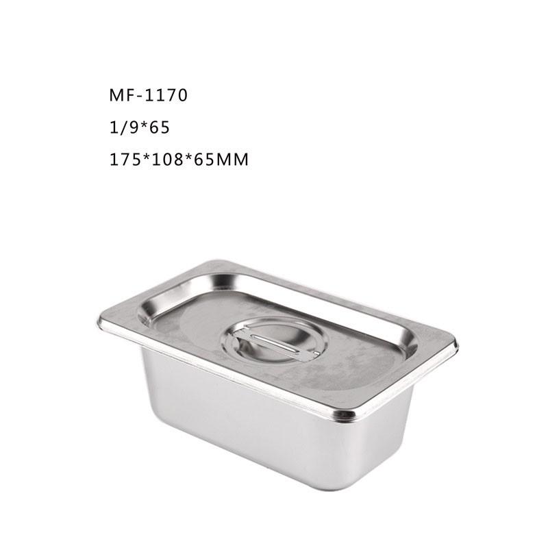 Khay Inox Đựng Thạch Trà Sữa Topping Size 1/9
