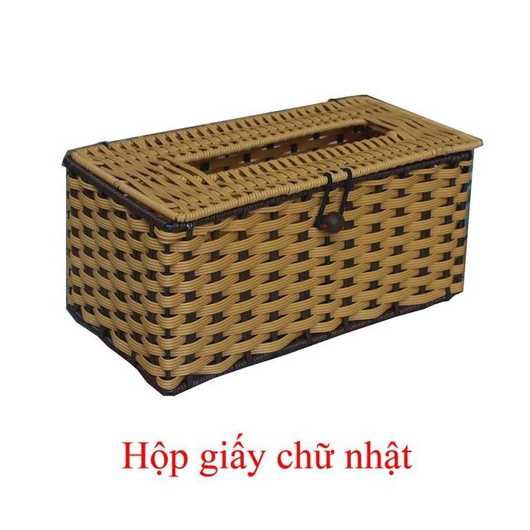 Hộp giấy mây chữ nhật ( shop Thongtinhanghoa83)