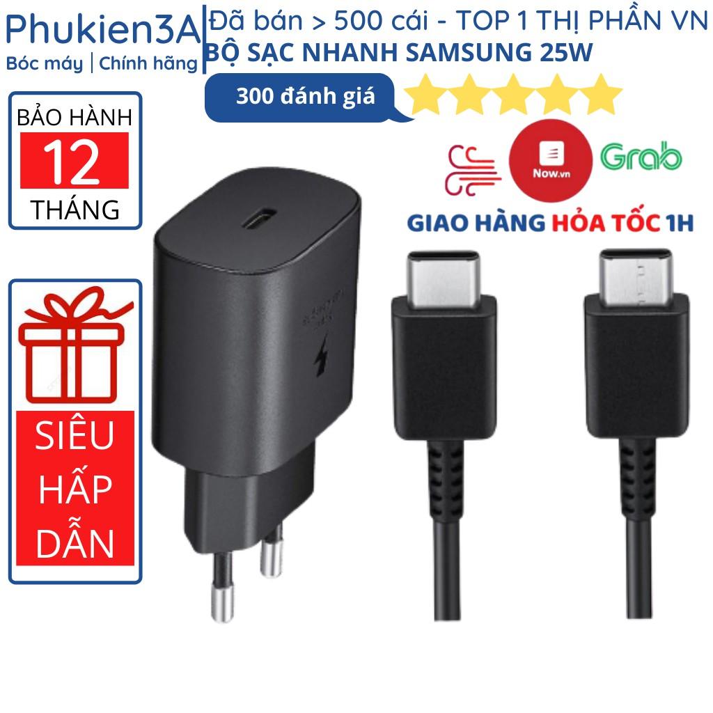 Bộ sạc nhanh Samsung 25W chính hãng Note 10 Note 20 A71, A70, A80, A90, S20, S20+, S20 Ultra
