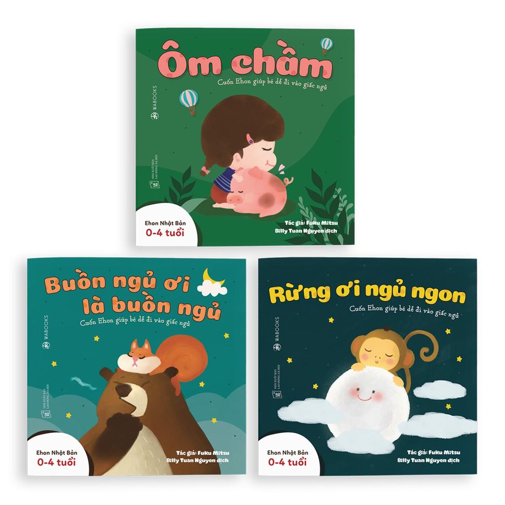 Sách Ehon Nhật Bản - Combo 3 cuốn Buồn ngủ ơi là buồn ngủ - Dành cho trẻ từ 0 - 4 tuổi