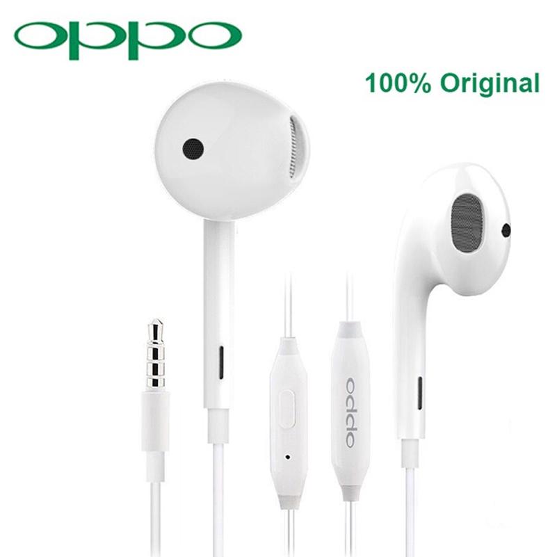Tai nghe có dây OPPO R11 chính hãng thiết kế nhét tai cổng 3.5mm