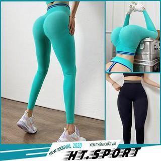 Quần tập gym nữ lưng cao, chun mông chất liệu dệt co giãn và thấm hút |MSQ20