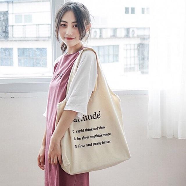 Túi Vải Túi Tote Attitude Hot Trend Hàn Quốc