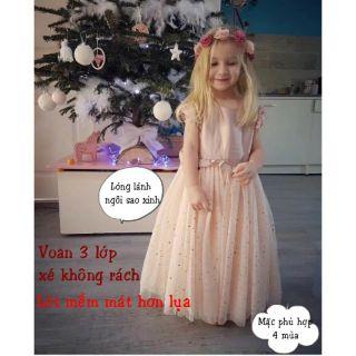 Váy công chúa xuất xịn đẹp rẻ cho bé gái -  M11 ( vay cong chua be gai re dep xinh)