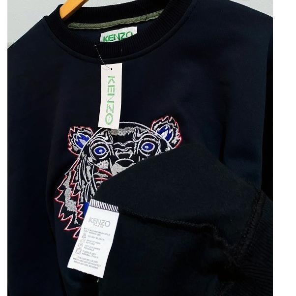 Áo thun cổ tròn thêu chữ Kenzo Sha-39 size L XL
