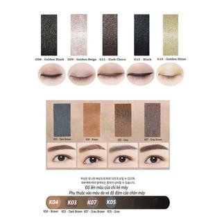 COMBO Chì Kẻ Mắt mini và Chì Kẻ Mày đầu tròn Hàn Quốc Kbox1998 giữ màu hoàn hảo thumbnail