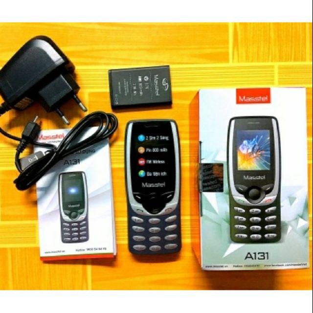Điện thoại 2 sim giá rẻ Masstel A131 Mới 100% Fullbox, pin trâu bảo hành 12Tháng