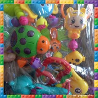 CDZ Bộ đồ chơi xúc xắc lục lạc 8 món dễ thương cho bé