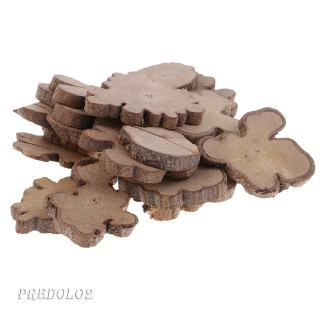 20pcs 35mm Natural Wood Slices Irregular Wood Slabs Rustic Tree Bark Slices