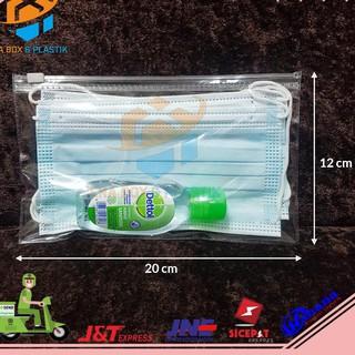 1 Túi 10 Túi Khóa Kéo Bằng Nhựa Kích Thước 20×12 cm