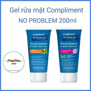 Gel rửa mặt Compliment NO PROBLEM 200ml làm sạch, ngừa mụn trứng cá và mụn đầu đen.
