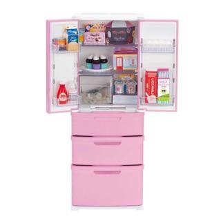 Tủ lạnh cho búp bê Licca kèm rất nhiều đồ ăn y hình