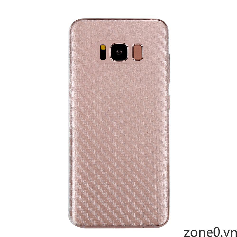 Carbon Fiber Back Transparent Screen Clear Protectors Cover For Samsung S8+ Film ZONE