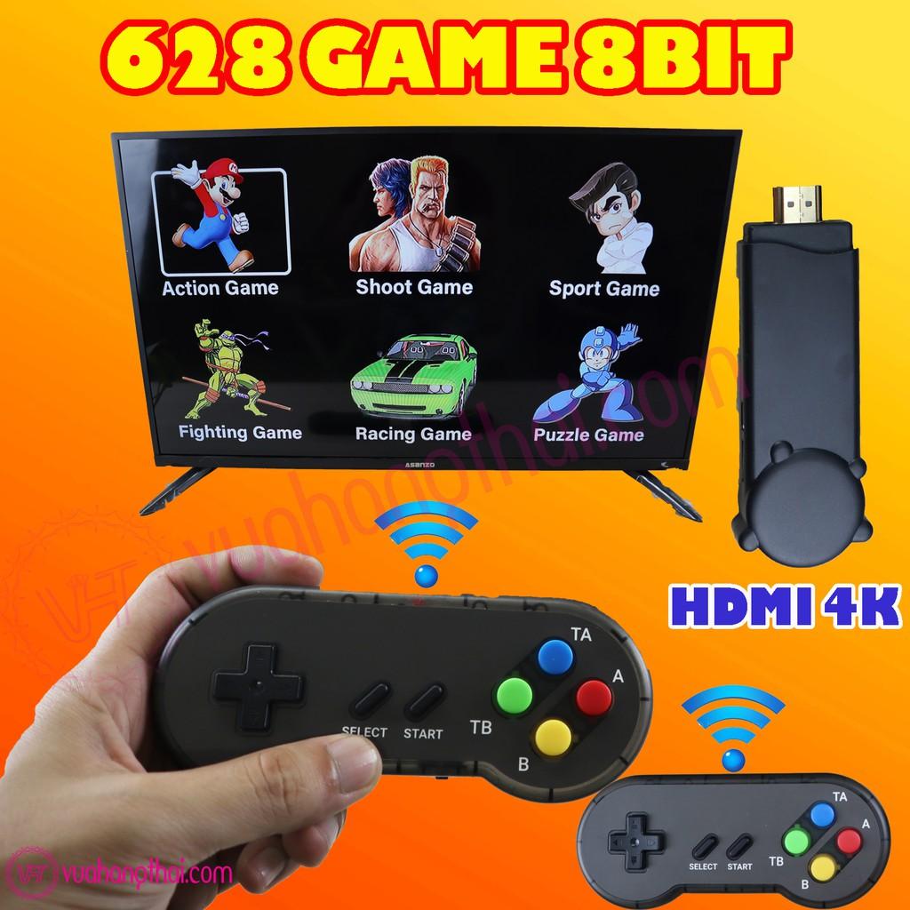 Máy chơi game 4 nút không dây HDMI PK06 –  tích hợp 628 game huyền thoại