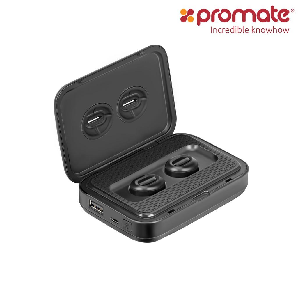 Tai nghe Bluetooth Earbuds không dây Promate PowerBeat kiêm sạc dự phòng 5000mAh (Đen) - 3541057 , 1027896921 , 322_1027896921 , 2990000 , Tai-nghe-Bluetooth-Earbuds-khong-day-Promate-PowerBeat-kiem-sac-du-phong-5000mAh-Den-322_1027896921 , shopee.vn , Tai nghe Bluetooth Earbuds không dây Promate PowerBeat kiêm sạc dự phòng 5000mAh (Đen)