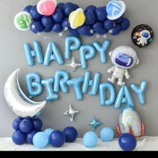 Set bóng bay trang trí sinh nhật phi hành gia cho bé trai T1 gồm: