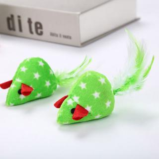 2pcs Mice Shape Pet Cat Toys Catnip Interactive Toy Kitten Christmas Toy