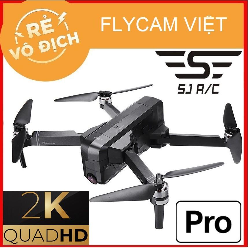 [GIÁ HỦY DIỆT] Máy Bay Flycam SJRC F11 PRO , Camera 2K QuadHD , Tầm Xa 1.2 Km , Bay 25 Phút , Cánh Gấp