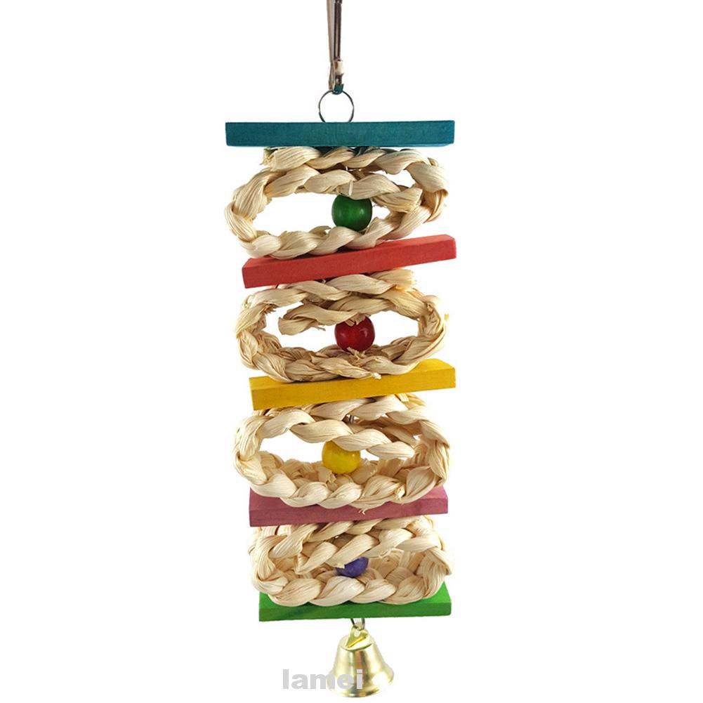 Accessories Cage Chewing Colorful For Medium Small Hanging Pet Parrot Swing Wooden Funny Bird Toy