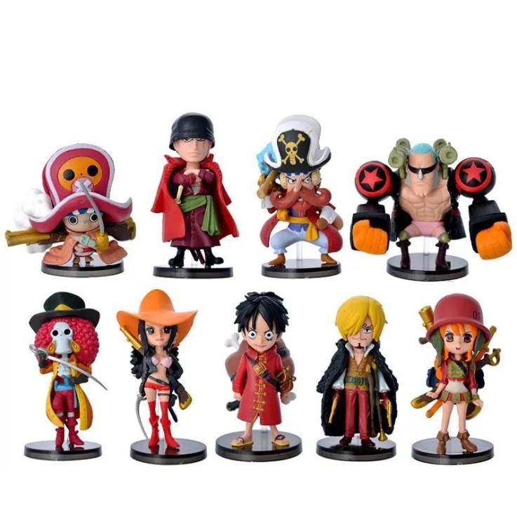 Mô Hình Nhân Vật One Piece Team Luffy ( set 9 nhân vật)