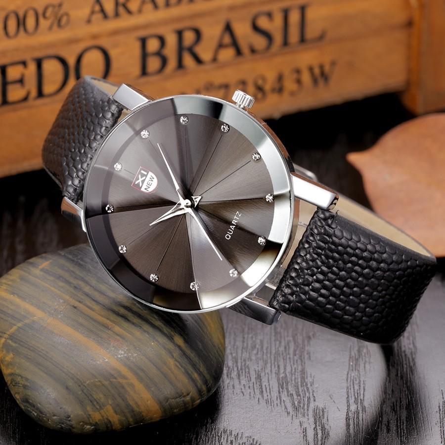 Đồng hồ nam XINEW X88 mặt kính 3D dây da cao cấp