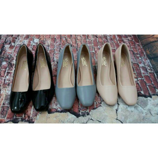 Giày nữ gót vuông 5 phân - rubyshop