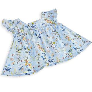Bộ bé gái sát nách bèo vải kate cao cấp hoạ tiết hoa li ti caro thời trang cho mùa hè siêu năng động Amprin SG710
