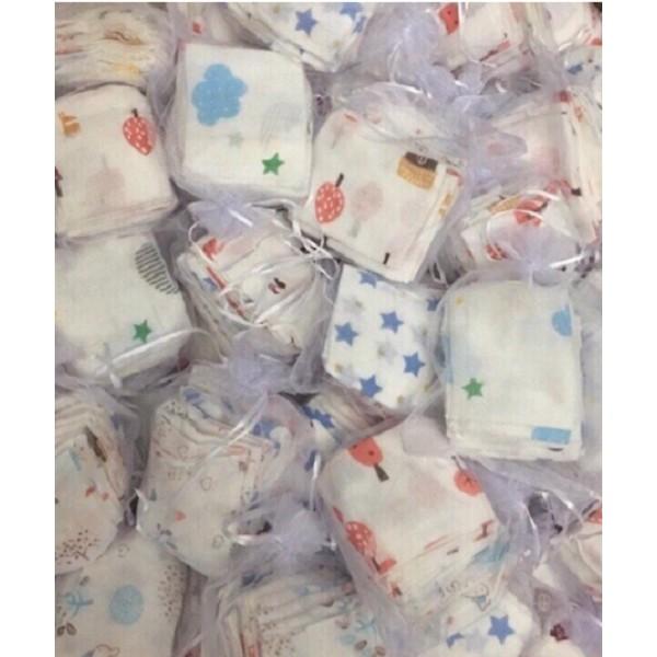 Set 10 khăn sữa A,DEN họa tiết dễ thương cho bé( Nhà phân phối Ha dong)