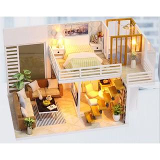 Mô hình nhà gỗ DIY Biệt thự thành phố 1