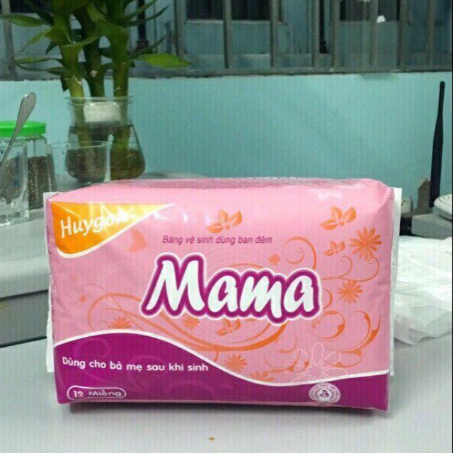 Gói 12 miếng băng vệ sinh Huygo Mama