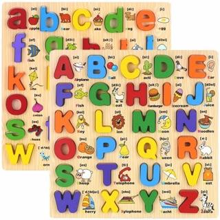 Đồ chơi gỗ – Bảng chữ cái nổi có hình minh họa