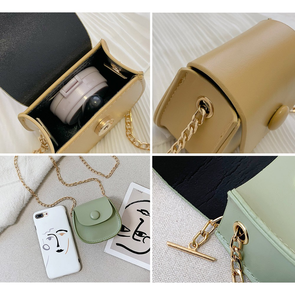 Túi Mini Nhỏ Đeo Chéo Da Trơn Thời Trang P1650