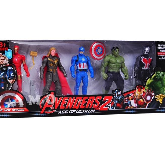 Set 5 Mô Hình Nhân Vật Robot Phim Avengers 2115