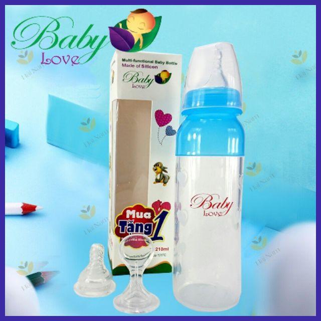 Bình sữa Baby Love silicon 2in1 cổ hẹp 110ml  -  Anh ( tặng thêm 1 núm ti )