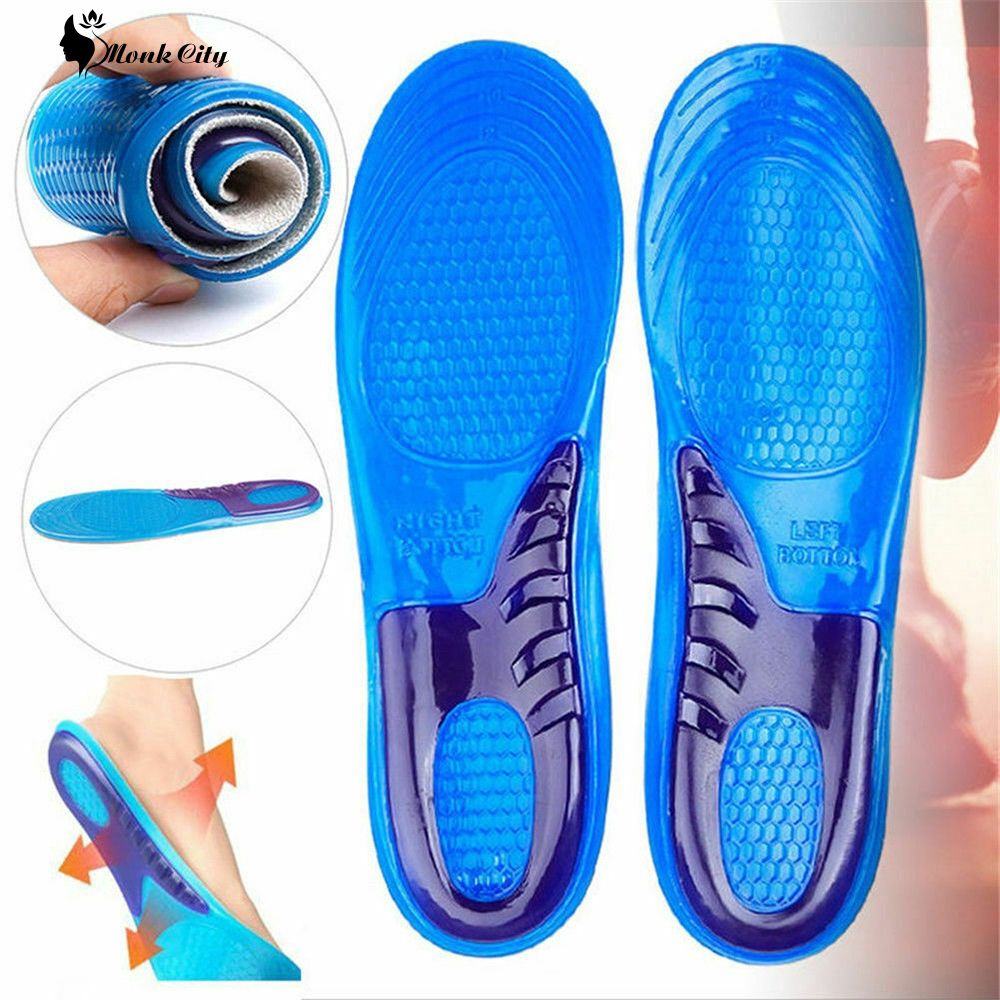 A Pair Of Two-color Anti-shock Breathable Sweat Absorbing Insoles MONK