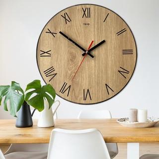 Đồng hồ gỗ treo tường phong cách hiện đại