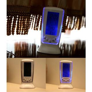 Đồng hồ FREESHIP Đồng hồ để bàn nhiệt kế, thiết kế sang trọng, thanh lịch, có đèn Led màu xanh tinh tế 4939