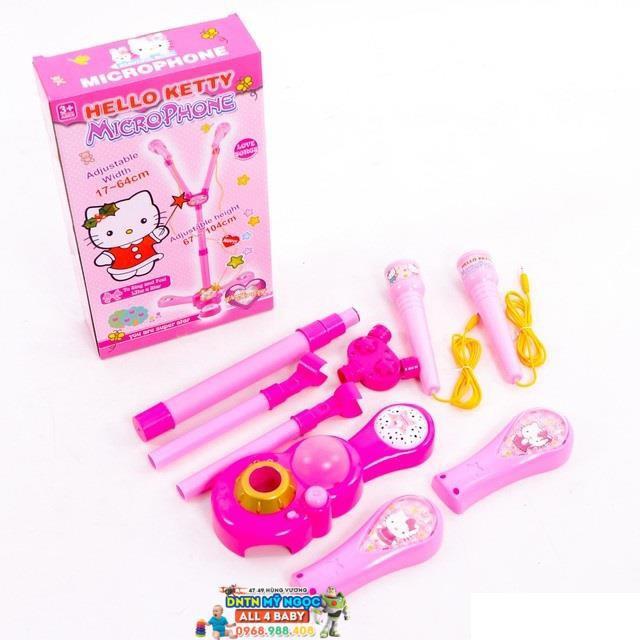Bộ đồ chơi Microphone hát đôi Hello Kitty RoyalKid1325