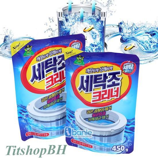 Gói bột tẩy vệ sinh lồng máy giặt 450g- Siêu sạch