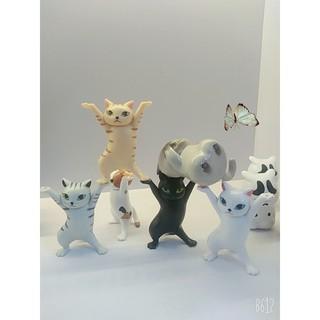 Tượng Mèo Cạn Lời Mini Sắc Nét Cute Dễ Thương Trang Trí Để Bàn Học Xe Hơi Góc Làm Việc Giảm Căng Thẳng Mệt Mỏi