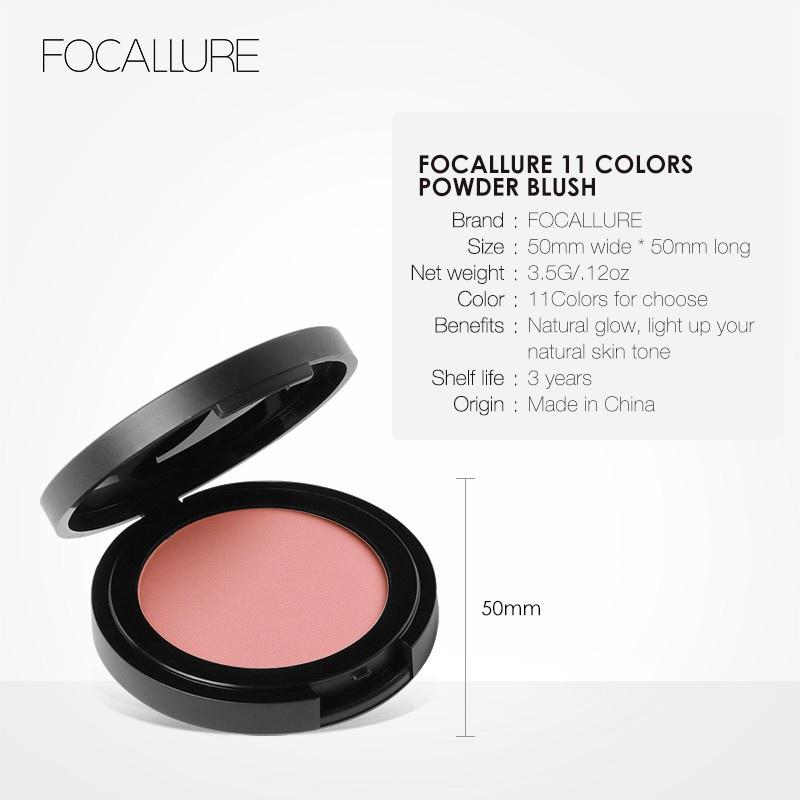 FOCALLURE] Phấn má Focallure trang điểm tự nhiên 11 màu tùy chọn (3.5g) - Phấn  má | MyPhamTONA.com